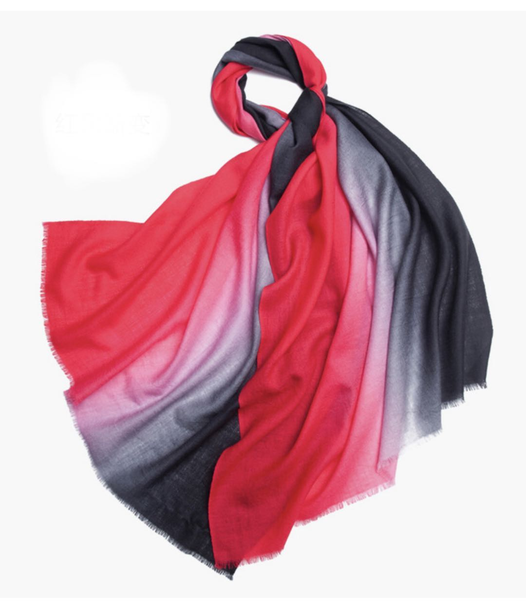 Michelle Scarf Red and Black