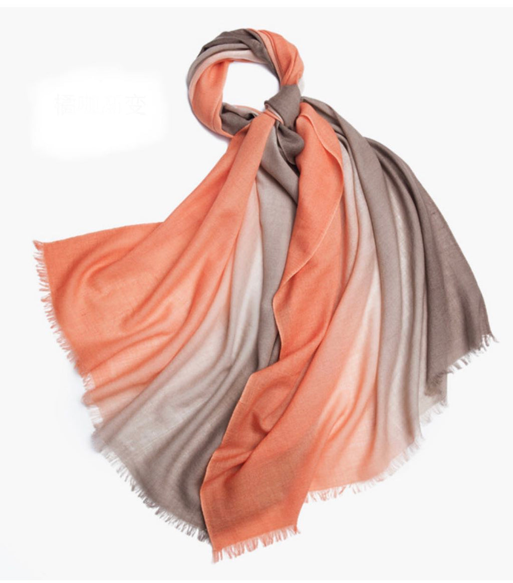 Michelle Scarf Orange and Brown