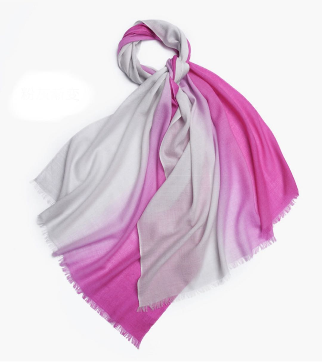 Michelle Scarf Fuchsia and Grey