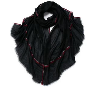 Camille Cashmere Shawl Black and Pink