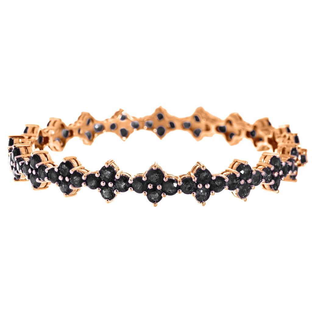 Asher Bangle Rose Gold Black Diamond