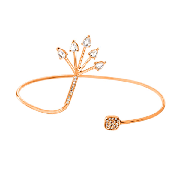 Spike Cuff Rose Gold Diamond