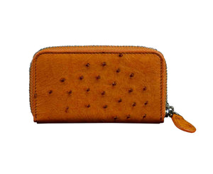 Caitlyn Credit Card Holder/ Change Purse Ostrich