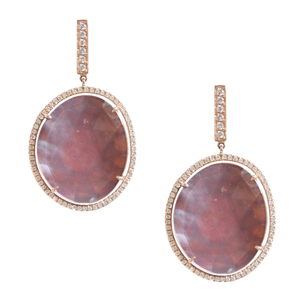 Elisha Hessonite Earrings