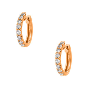 Lillian 2mm Rose Gold Diamond