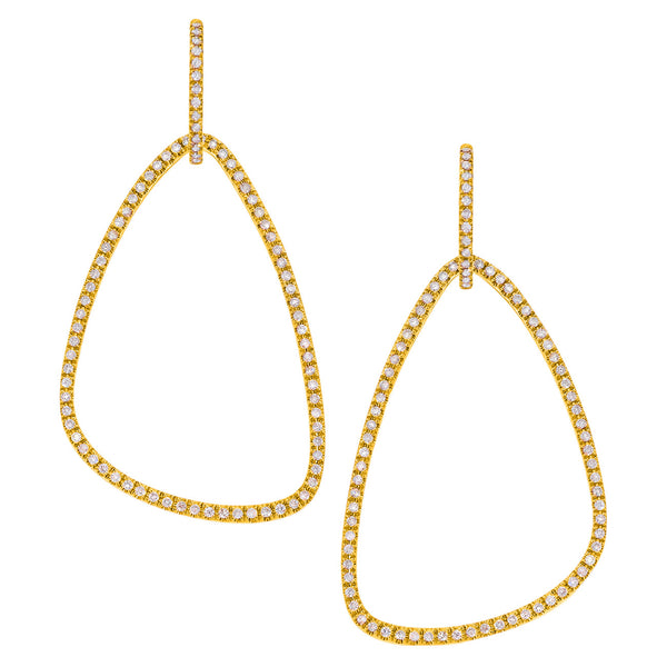 Veronica Ear Drops Yellow Gold
