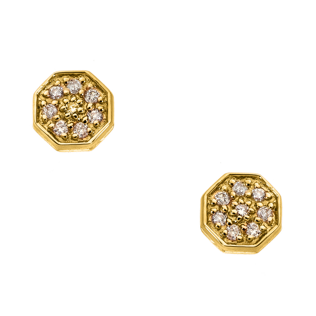 Elizabeth Studs Yellow Gold