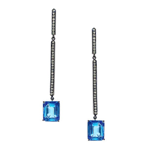 Mia Silver Blue Topaz Ear Drops