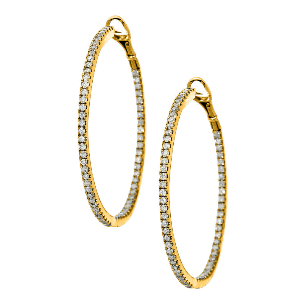 Mary Hoops Yellow Gold 1.5mm