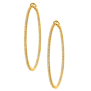 Mary Hoops Large Yellow Gold