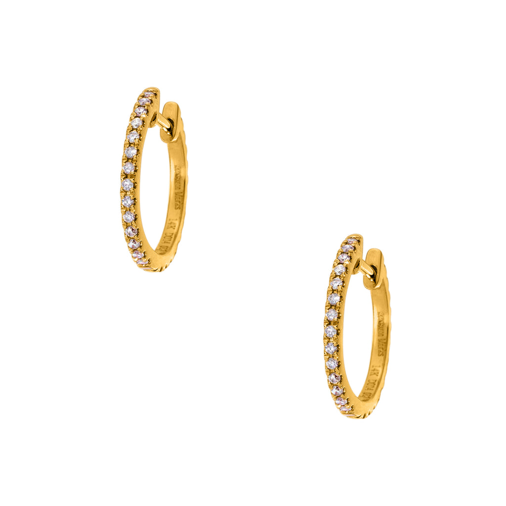 Lillian Double Sided Yellow Gold Huggies 1mm