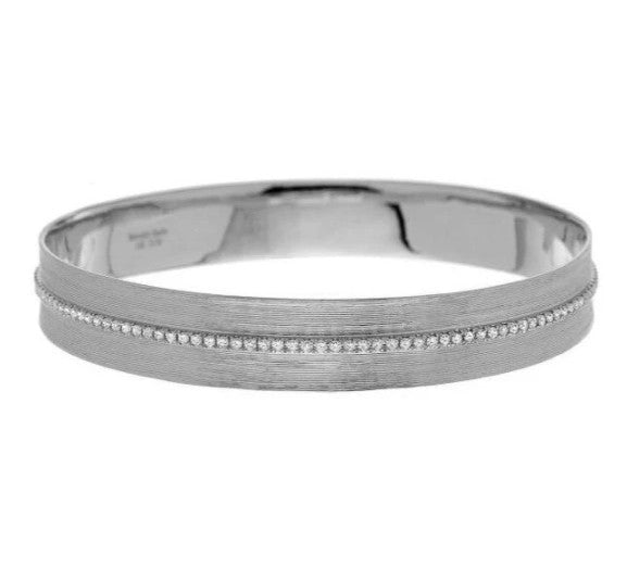 Hannah Bangle Sterling Silver Diamonds
