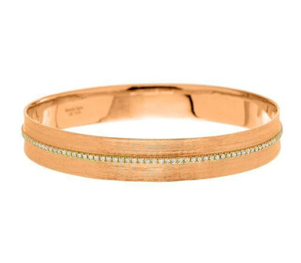 Hannah Bangle Rose Gold Diamonds