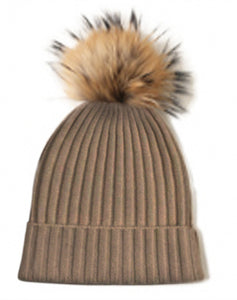 Jessa Hat Brown Cashmere