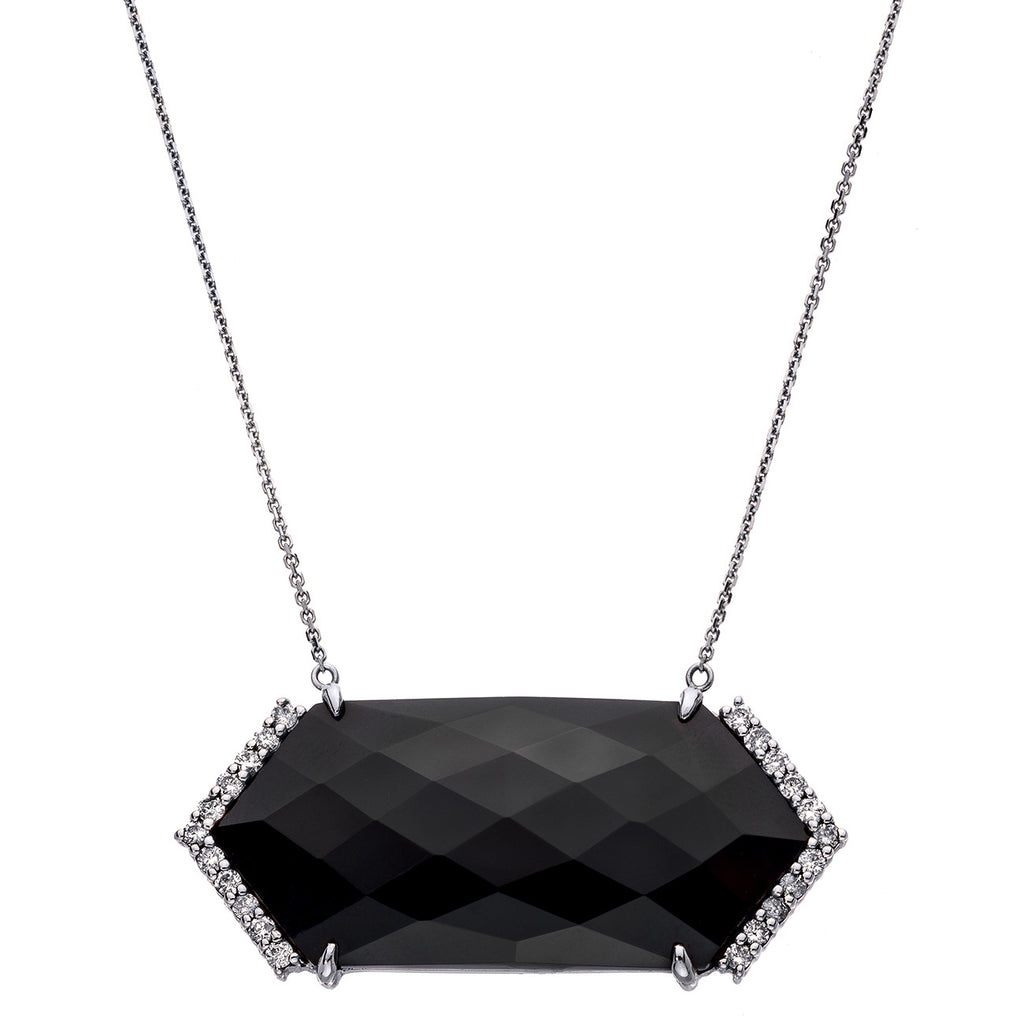 Hayden Necklace Silver Black Onyx