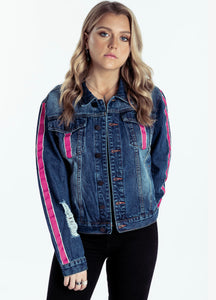 Delilah Denim Jacket Pink