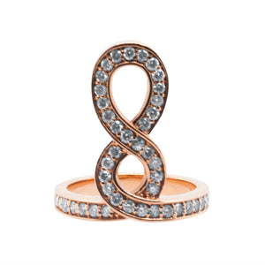 Mia Figure 8 Ring Rose Gold