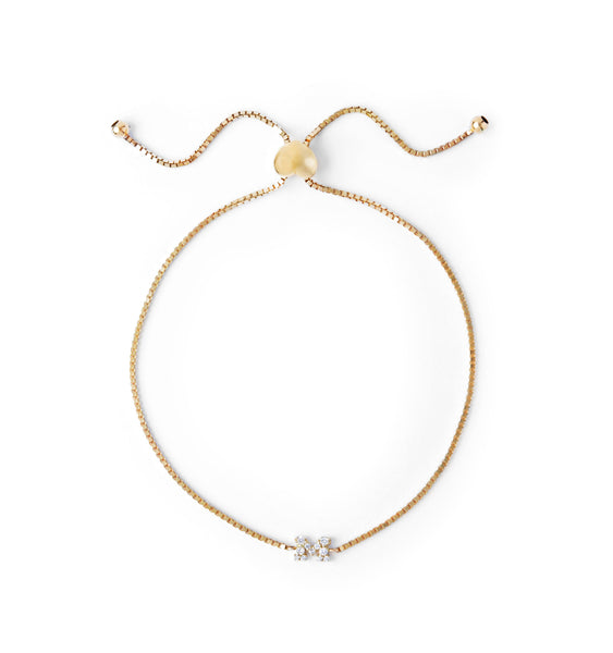 Initial Bolo Bracelet Yellow Gold Collegiate