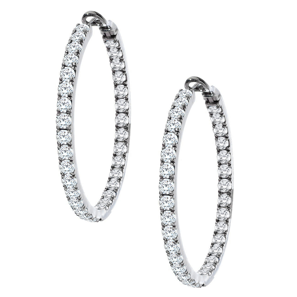 Mary Hoops White Gold 3.5mm