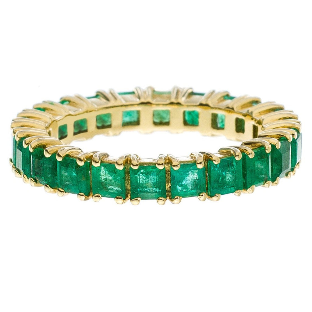 Josie Band Yellow Gold Emerald