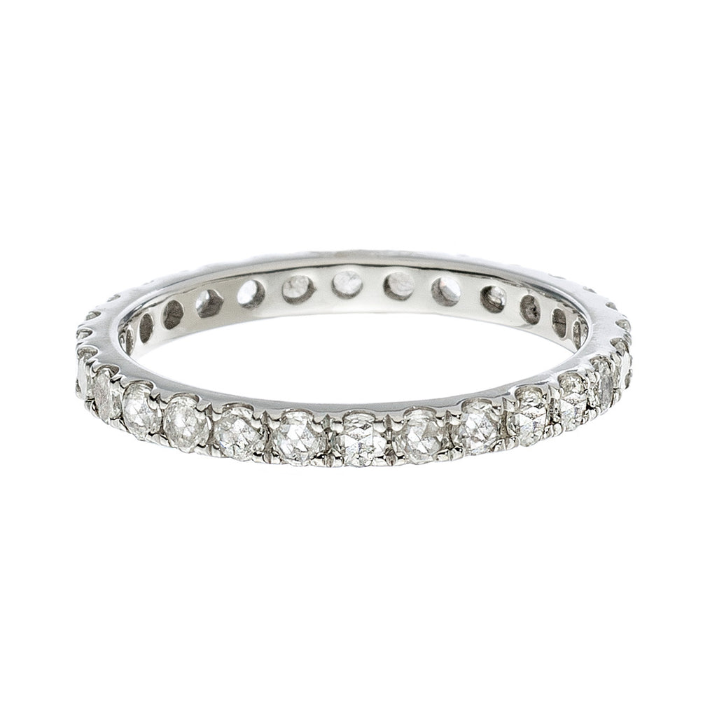 Josephine 2mm Band White Gold Diamond