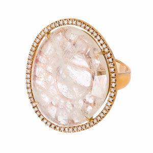 Elisha Ring Rose Gold Moonstone