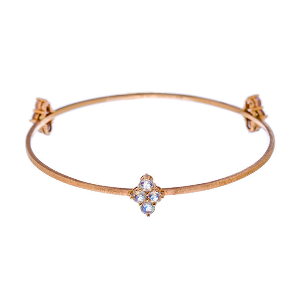 Asher 3-Charm Bangle Rose Gold Moonstone