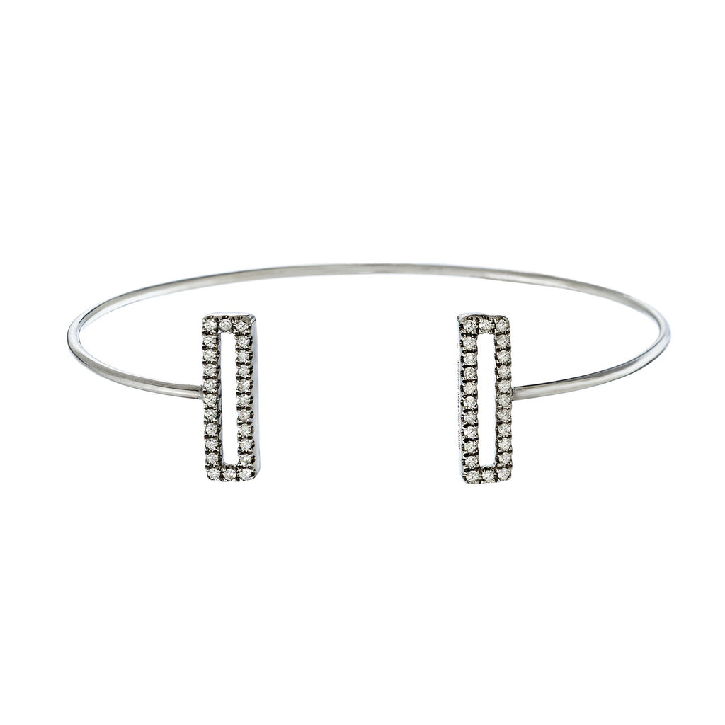 Ollie Double Mini Cuff Silver