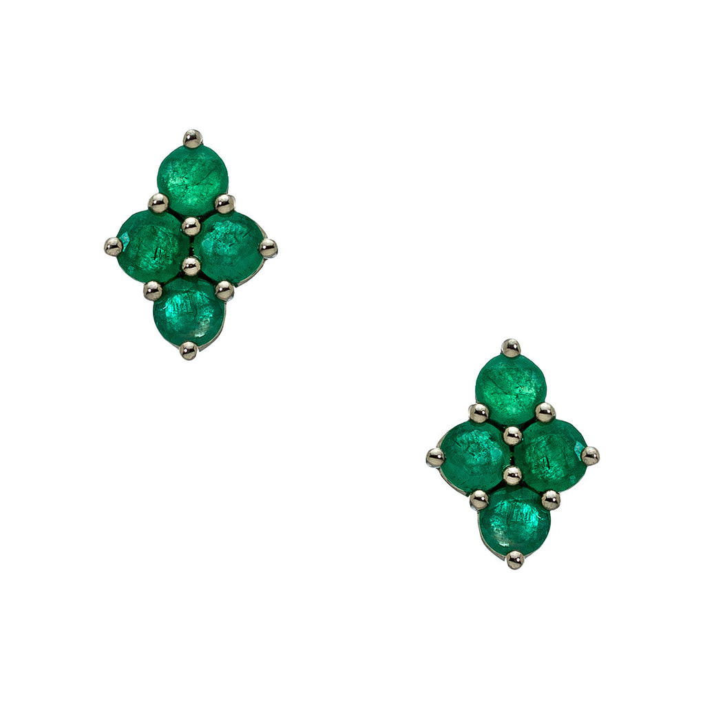 Asher Studs Silver Emerald