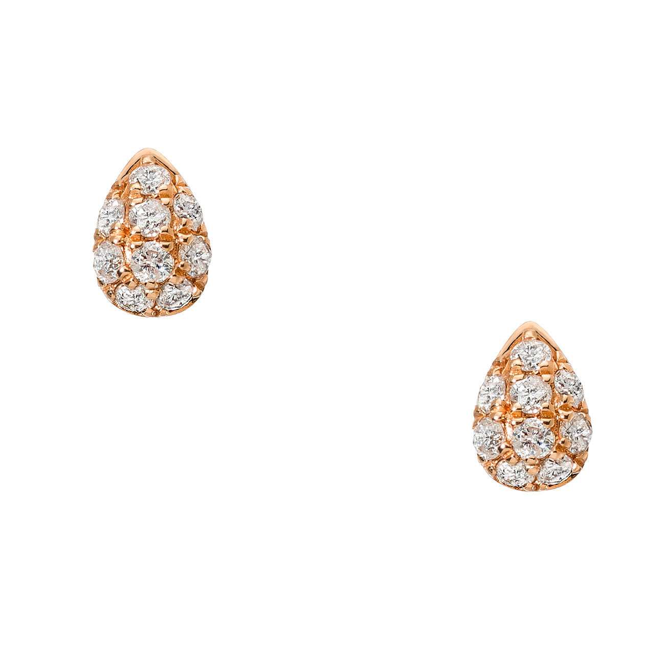 Courtney Studs Rose Gold