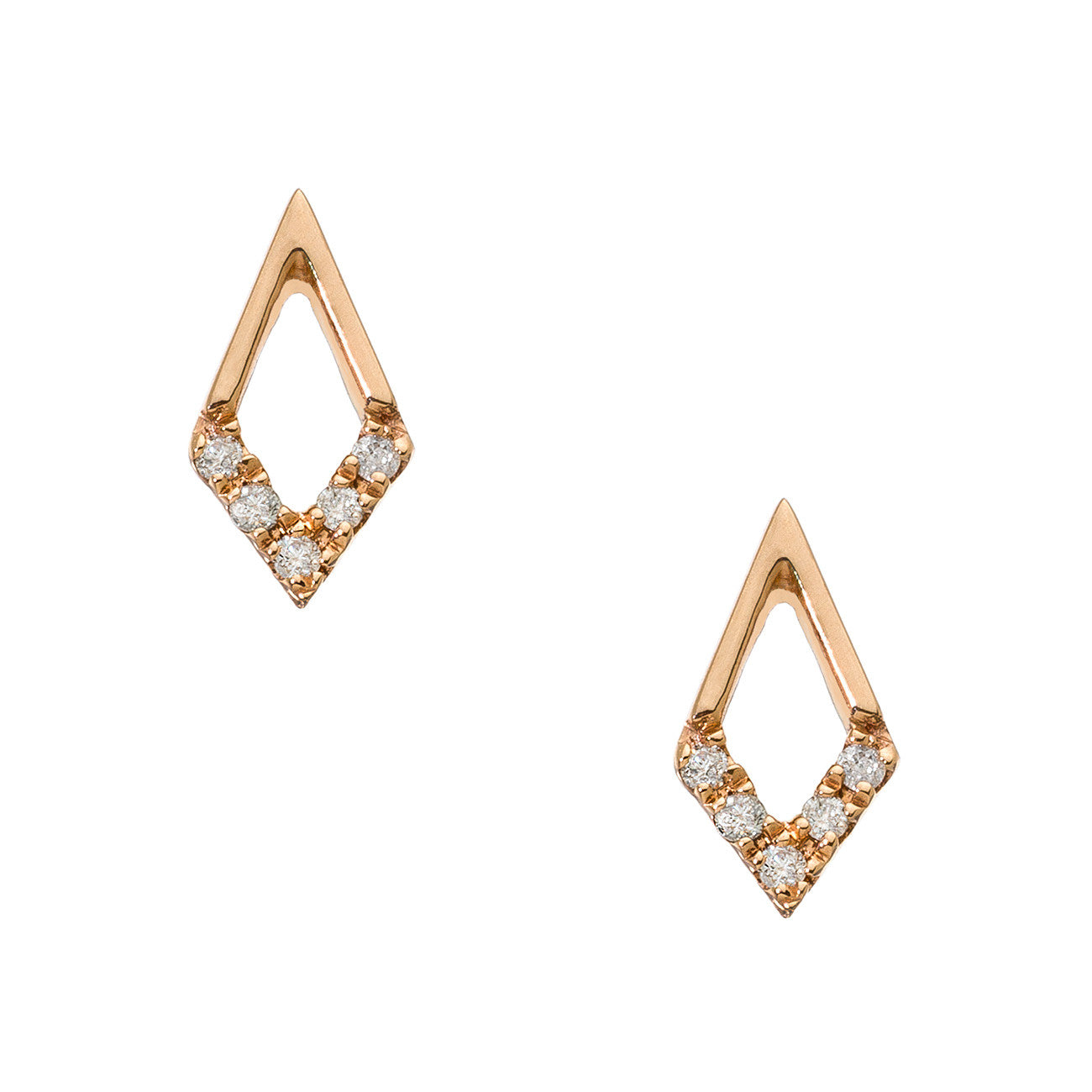 Tori Mini Studs Rose Gold