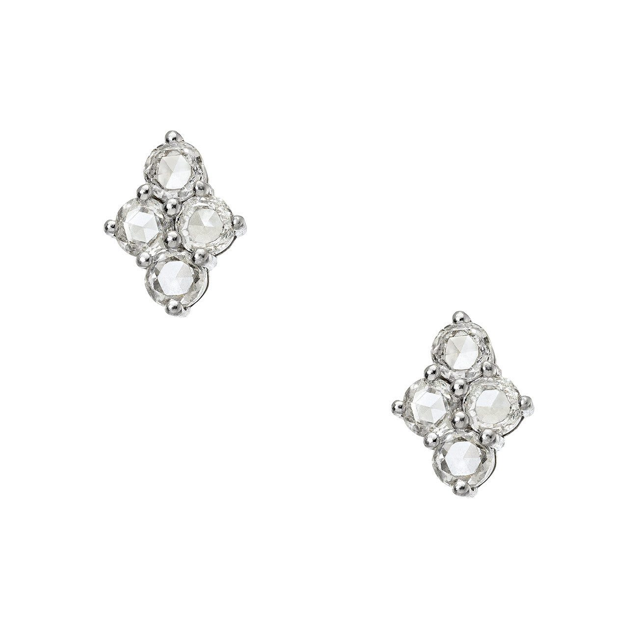 Asher Studs White Gold Rose Cut Diamond