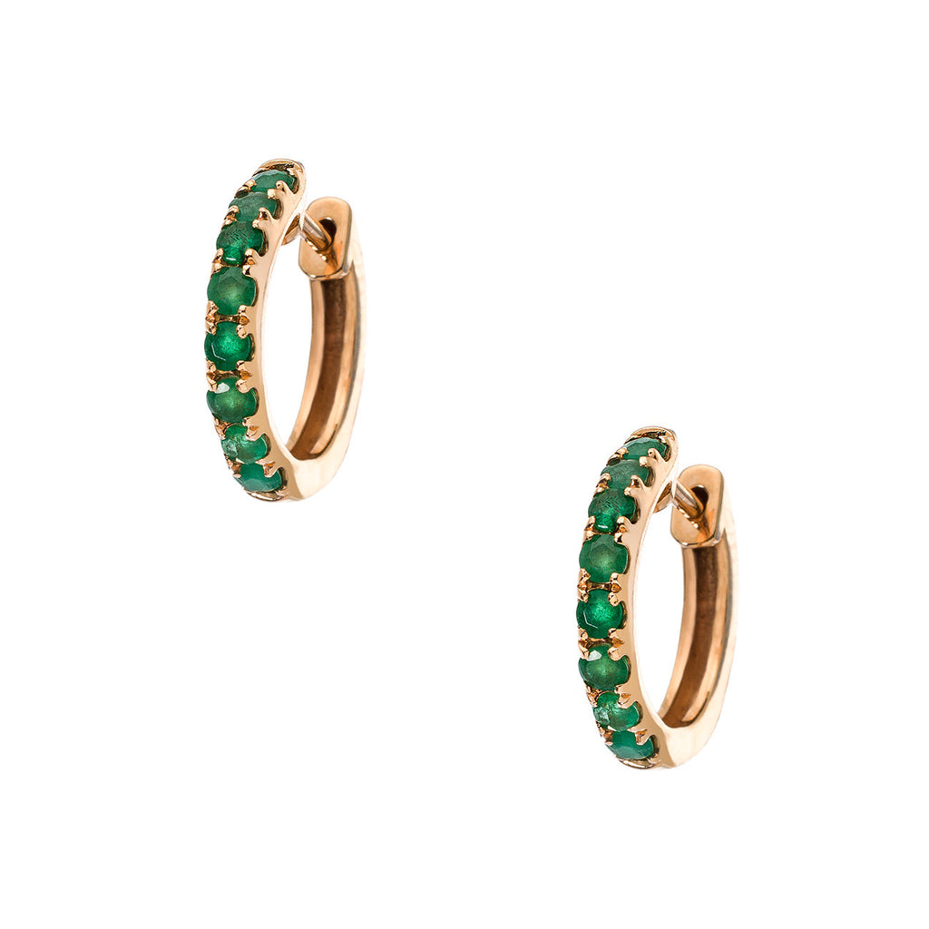 Lillian Rose Gold Emerald 2mm