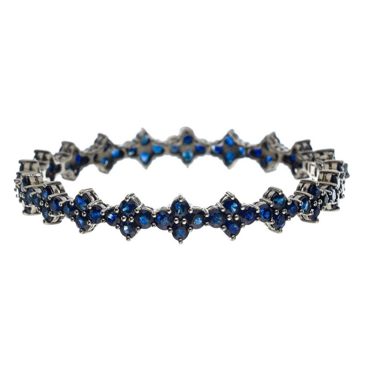 Asher Bangle Silver Sapphire