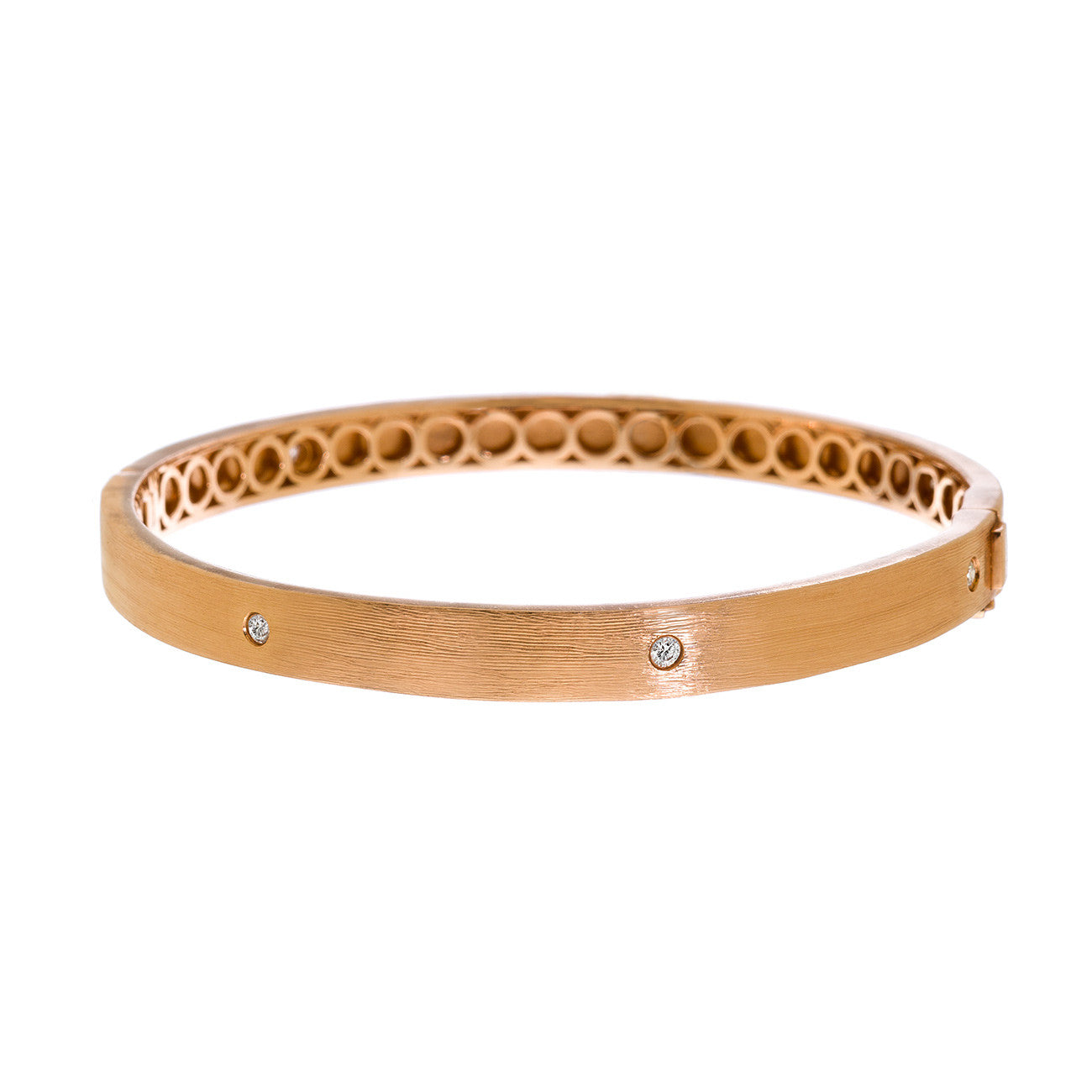 Nick Bangle Rose Gold White Diamond