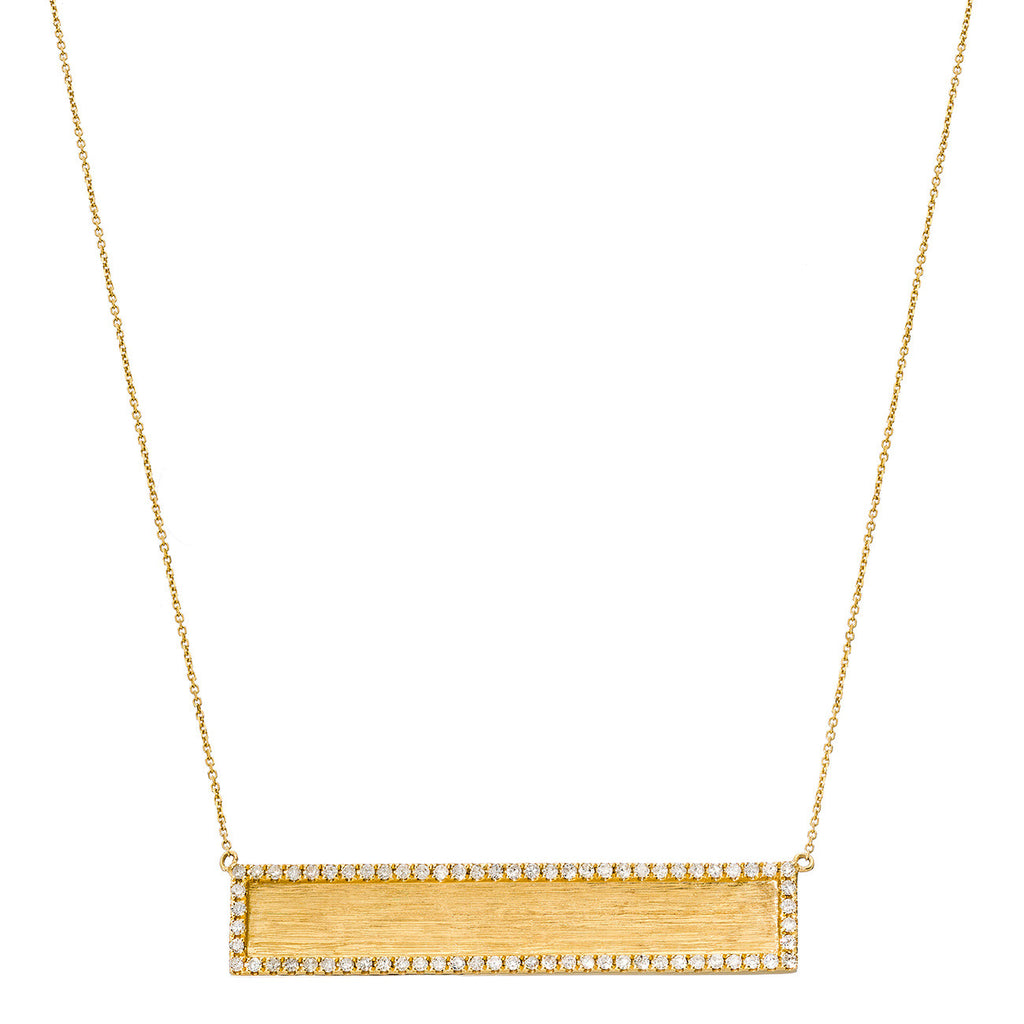 Hollie Horizontal Necklace Yellow Gold