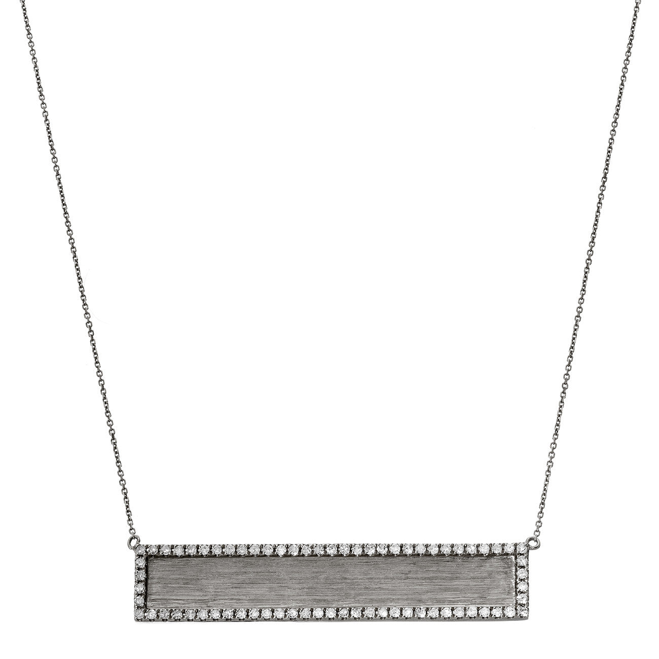 Hollie Horizontal Necklace Silver