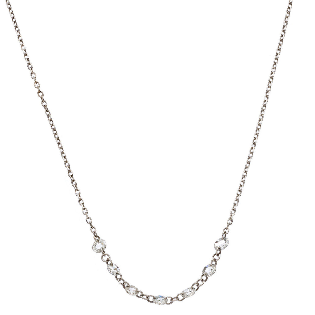 Lolo Necklace White Gold Rose Cut Diamond
