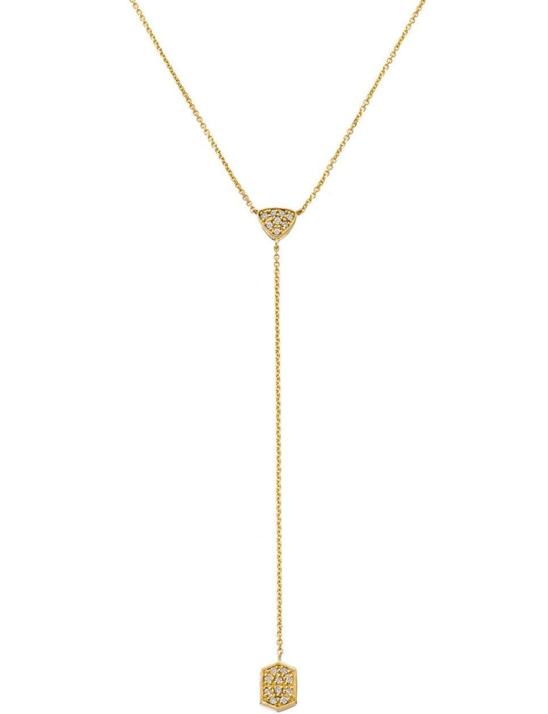 Selma Lariat Necklace Yellow Gold