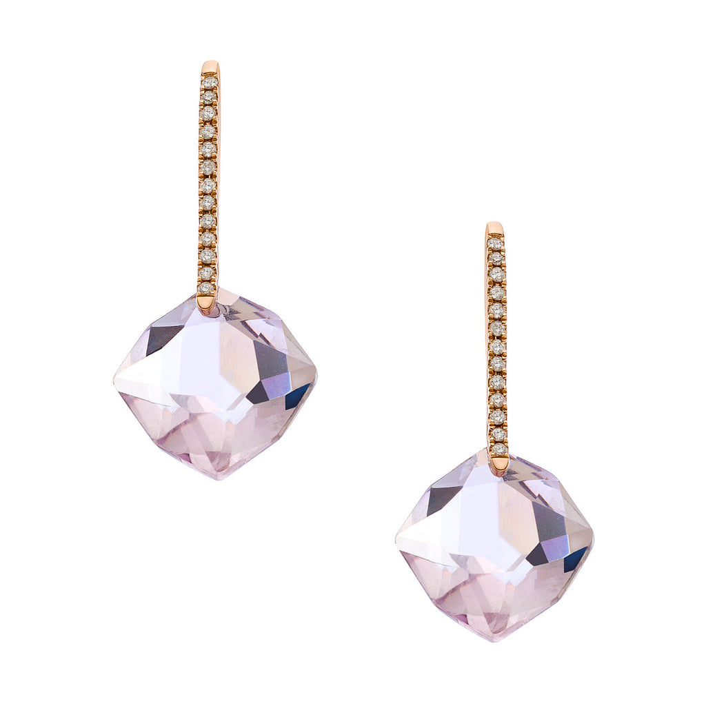 Reid Mini Earrings Rose Gold Rose de France