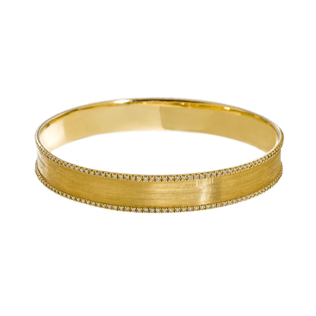 Hollie Bangle Yellow Gold