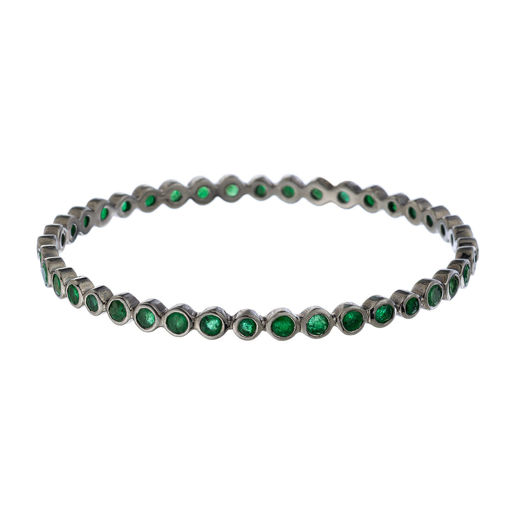 Brooks Bracelet Silver Emerald