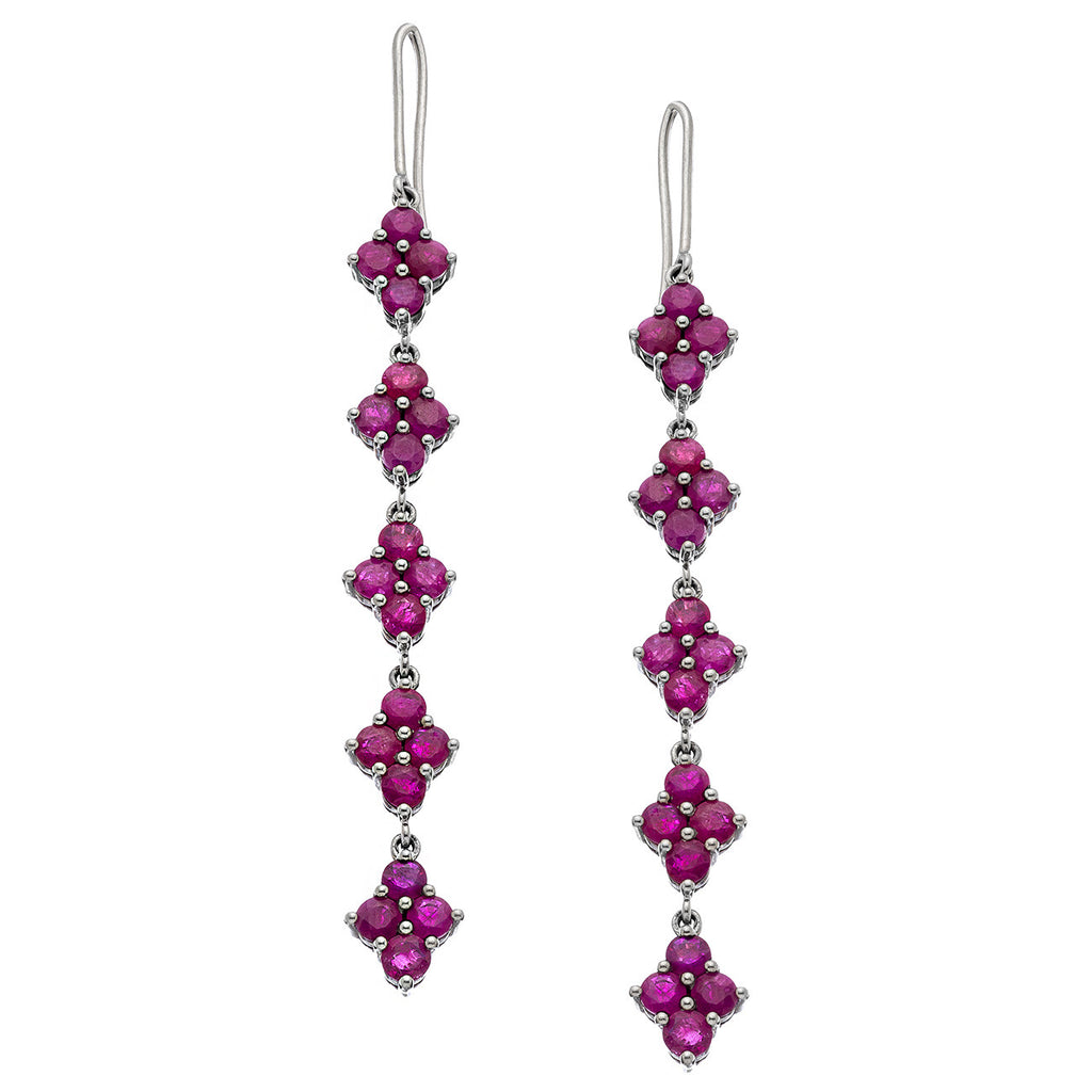 Asher Earrings Silver Ruby