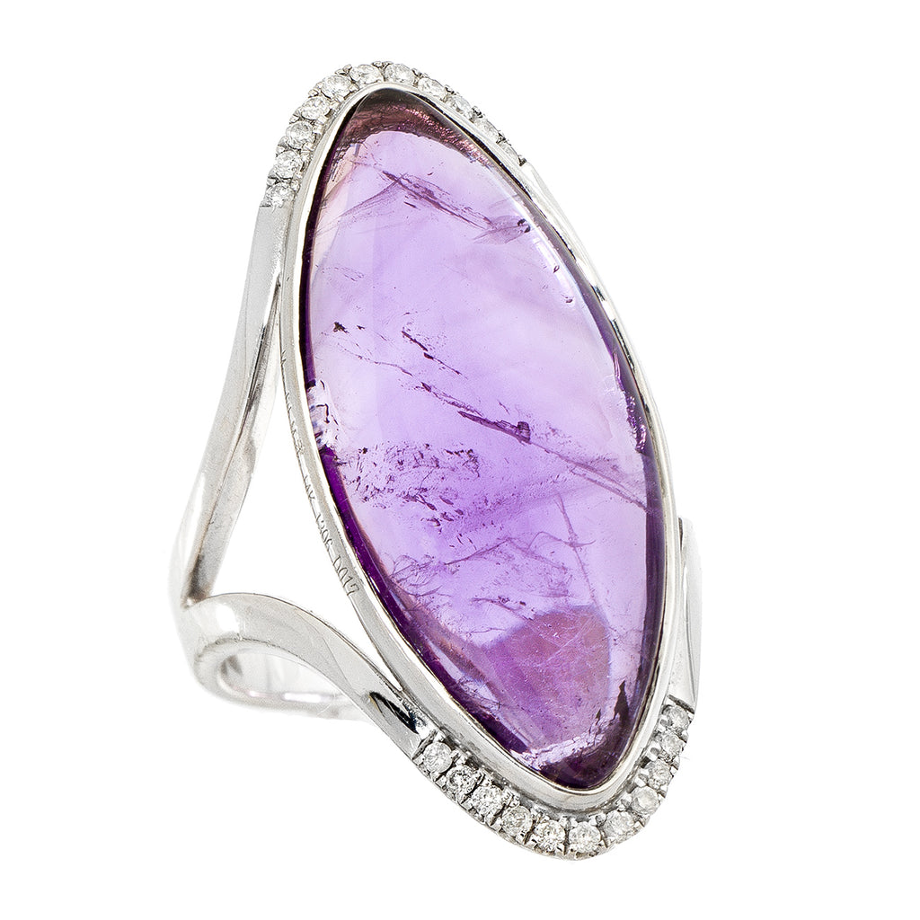 Annalise Ring White Gold Amethyst