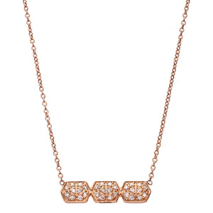 Melissa Triple Necklace Rose Gold