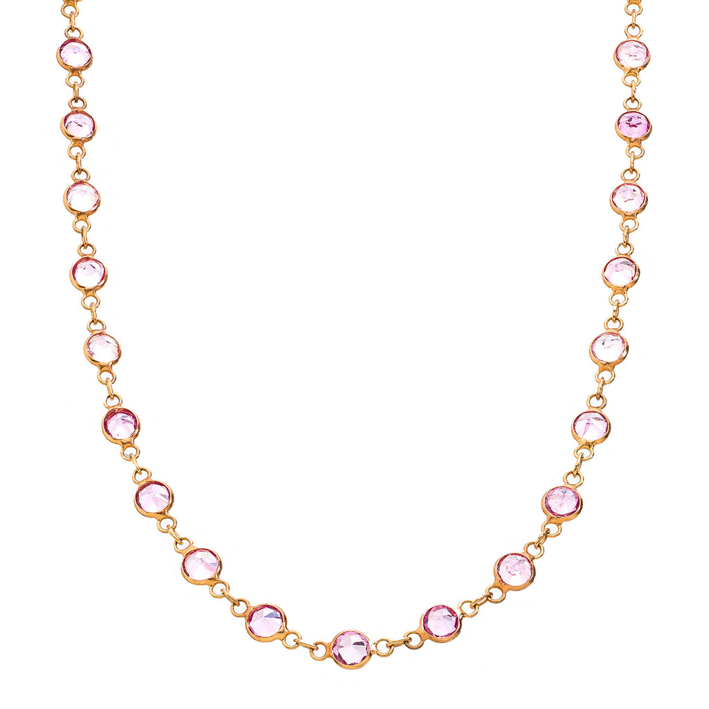 Lola Necklace Pink Sapphire
