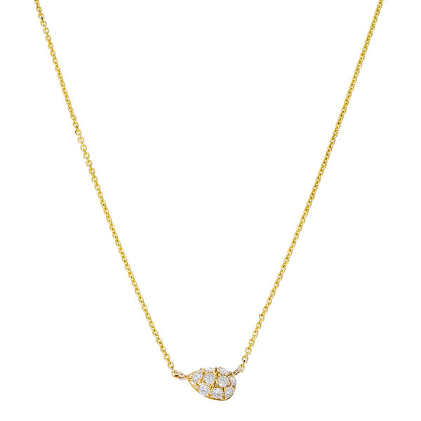 Courtney Necklace Yellow Gold White Diamonds