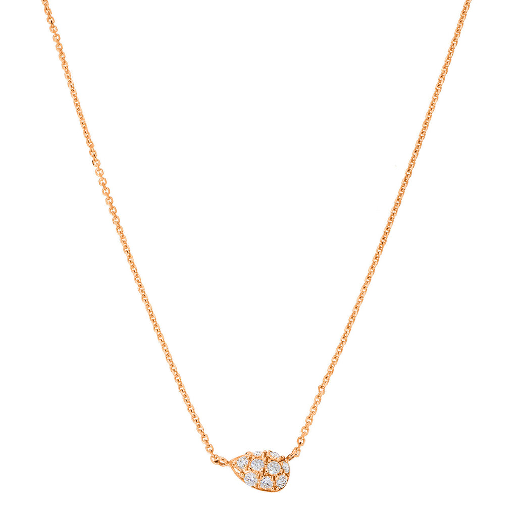 Courtney Necklace Rose Gold White Diamonds