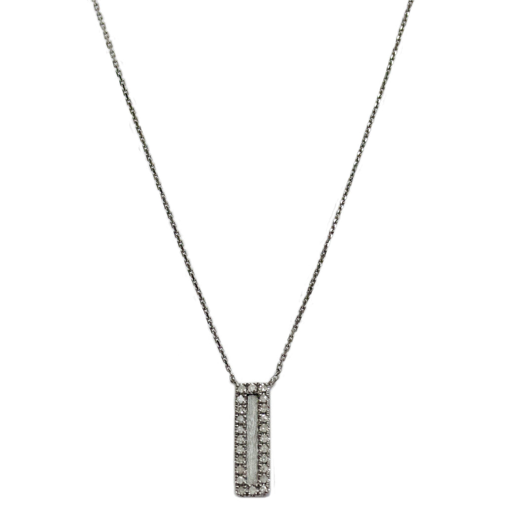 Hollie Mini Vertical Necklace Silver