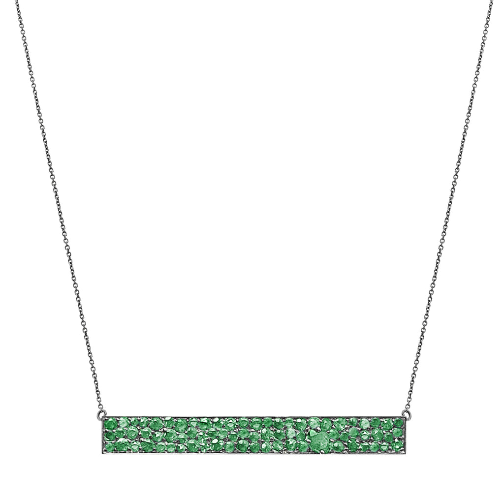 Stardust Necklace Silver Emerald